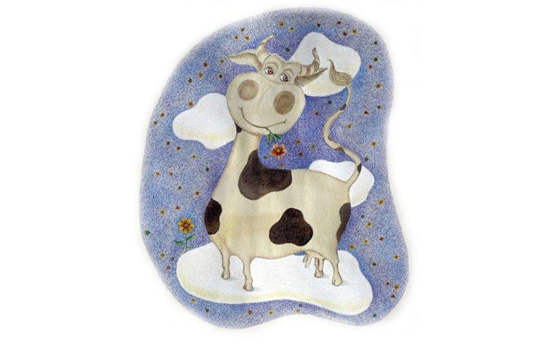 Art-Step Design Studio - Illustration - cow - ink, aquarelle