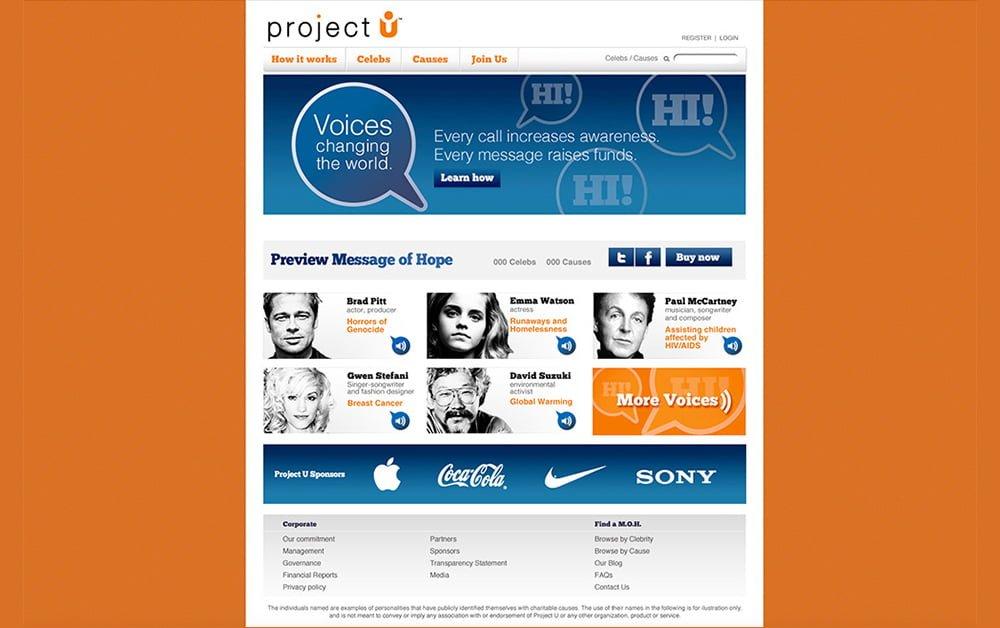 Arts-Step design studio-web design-Project-U
