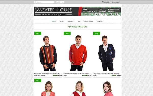 Sweaterhouse website